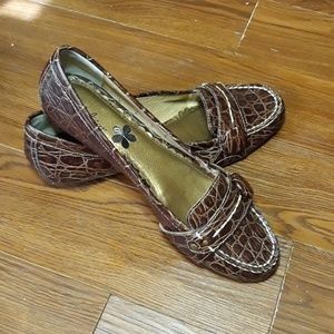 Madison snake loafers